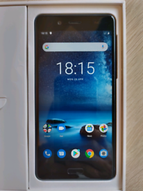 Nokia 8 Android Smartphone. Excellent Boxed condition COLLECTION ONLY
