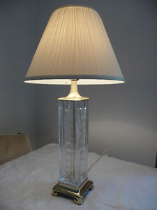 SQUARE LAMP BRASS LOOK
