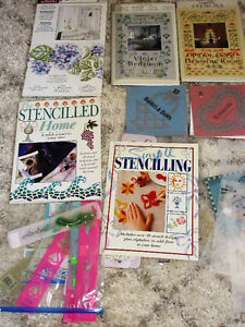 Stencilling Collection of books and large stencils for walls or