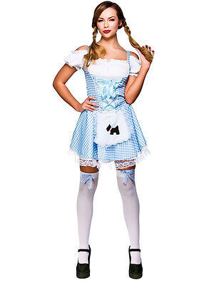 Ladies Sexy Dorothy Country Girl Fairy Tale Fancy Dress Costume Outfit 8-24 New