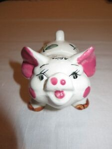 VINTAGE Bone China Piggy Bank - Japan - 50+ Years Old