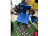 Blue wooden child's chair