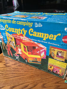 Vintage 1970 barbie country camper trailer motor home classic