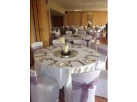 White chair covers & Organza sashes FOR HIRE Weddings| Party | Events | Birthdays
