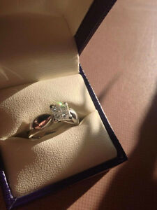 18kt White Gold Ring Set 4 Princess Cut Kawartha Lakes Peterborough Area image 2