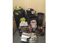 Hydroponic flood and drain system and extras