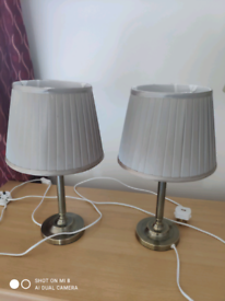 2 small table lamps.