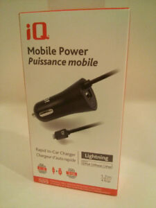 iQ  Mobile Power Rapid In-Car Charger ~ iPhone Lightning & USB