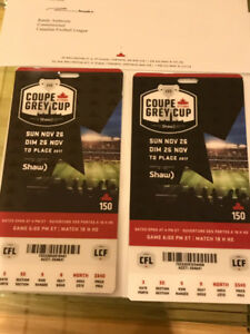 2 Grey Cup North Side Tickets - Season Ticket Value - $440 each