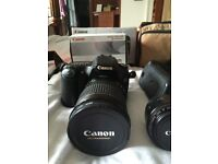 Canon EOS 30D + EFS 17-55mm f/2.8 IS USM + speed lite and more lenses