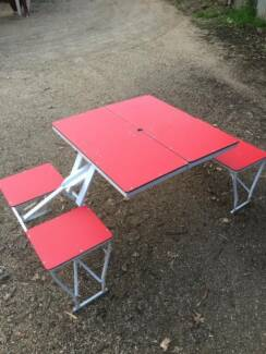 Folding picnic table/chairs for camping Temora Temora Area Preview