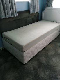 Single divan bed, electric adjustable