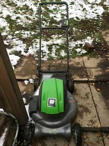 Self propelled, Battery Powered Lawn Mower.