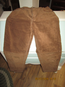 Three Pair of Skotts Size 10  Washable Suede Leather Pants