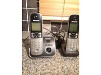 Panasonic cordless phone set with built in answerphone