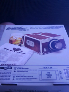 New in box smart phone projector