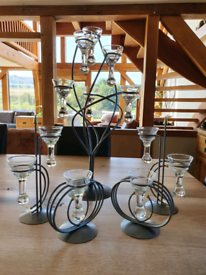 Teardrop Hanging Glass Candle Holders