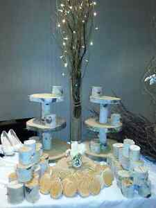 Rustic Wood Decor- Birch Wood Cake/Cupcake Stands Cambridge Kitchener Area image 3