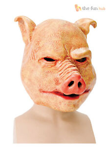 Deluxe-Adult-Horror-Pig-Latex-Mask-Evil-Animal-Fancy-Dress-Costume-Halloween