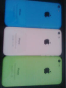 iphone 5C 16gb (2 with Telus and 1 with Bell) $130 each