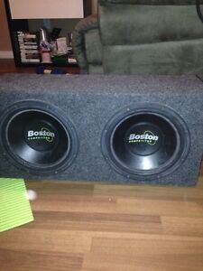 "Two 10"" subs /kicker amp/ a pair of MTX Audio 6x9s"