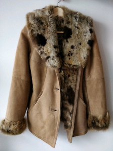 Beautiful genuine shearling coat