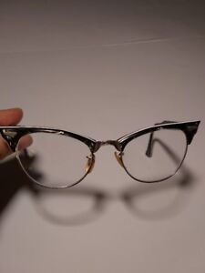 Cat Eye **1950s** Vintage Eyeglass Frames Tortoise Shell