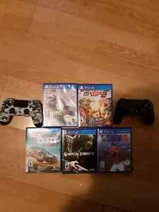 Ps4s-2 controllers-5 games... make offer