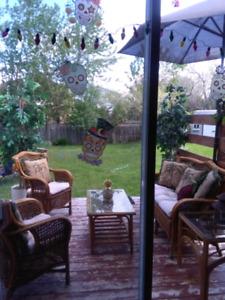 4 piece real wicker sofa patio set meuble de Jardin en rotin