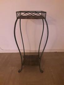 decorative iron plant stand
