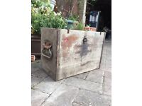 World War 2 vintage ex battery box, storage, man cave