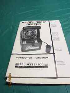 """Ray Jefferson Model """"6010"""" Beeper Fish Finder and Depth Finder Kawartha Lakes Peterborough Area image 2"""
