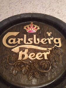 Faux Wood Carlsberg beer sign plaque Gatineau Ottawa / Gatineau Area image 1