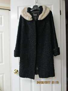 WOOL FUR COAT