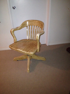 Old solid oak chair