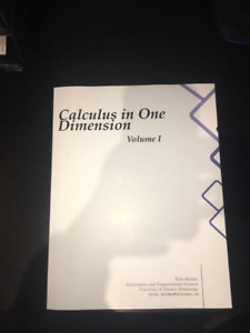 Calculus in one dimension Vol. 1 - Tyler Holden
