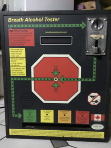 Sterling vending, 80'z alcohol breath testing machine.