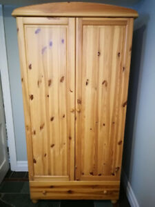 All Pine Wardrobe, Oak Storage Bench, Black Metal Filing Cabinet