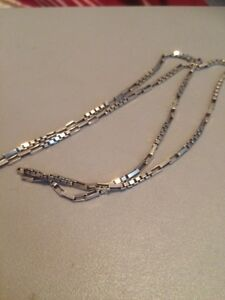 .925 Silver box chain necklace 22""