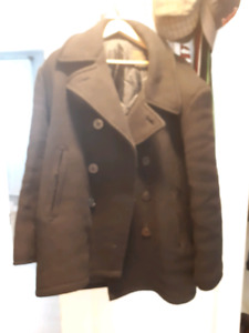 Navy pea coat size m - fits more like a large OBO