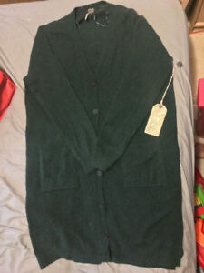 WOMANS PINE COLOURED CARDIGAN BRAND NEW