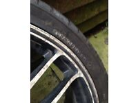 17 alloy wheel with tyre