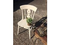 SHABBY CHIC SOLID OAK DESK BEDROOM CHAIR FREE DELIVERY