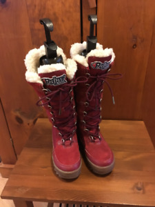 Like New Ladies Greenland Pajar Red Boots 6-6.5 Zipper/lace up