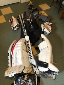 Goalie equipment, full kit