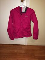 Pink north face jacket XS