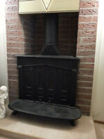 FRANKLIN Bifold Wood and Coal Antique Fireplace Stove (Vintage)
