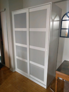 Ikea white wardrobe -need gone