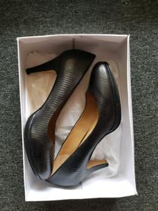 e541c67a4c Brand New Nine West Heels Leather Black Platform Pumps Size 8.5 ...