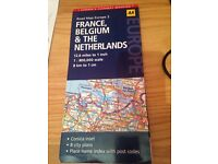 France Belgium and the Netherlands Road map